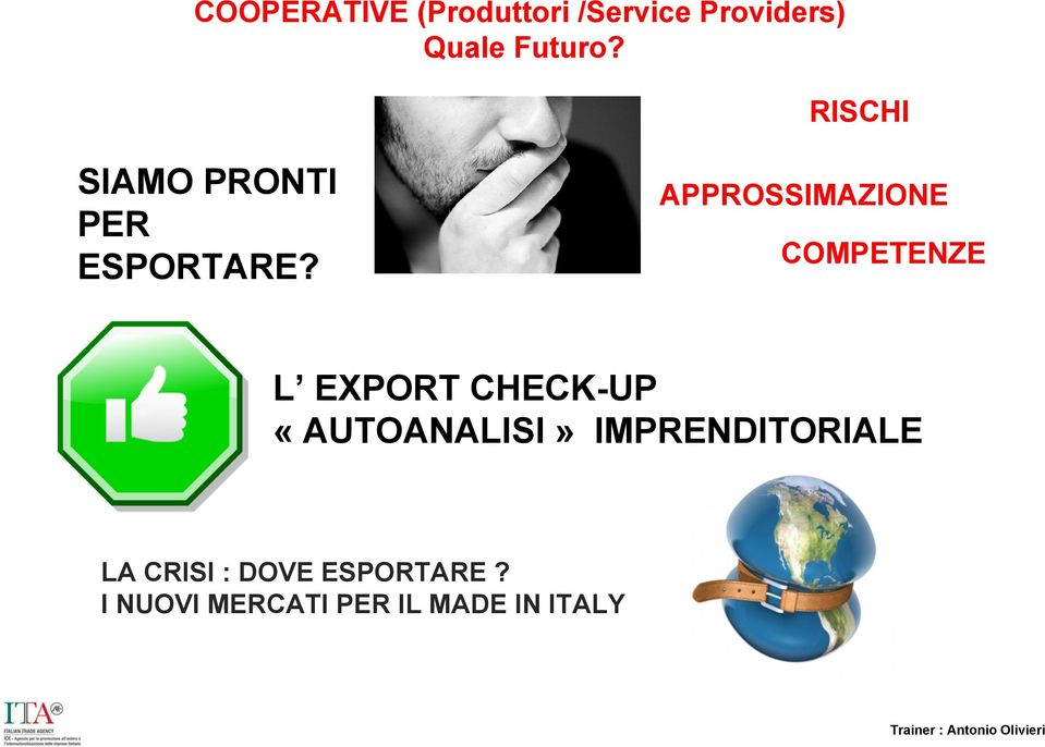 APPROSSIMAZIONE COMPETENZE L EXPORT CHECK-UP «AUTOANALISI»
