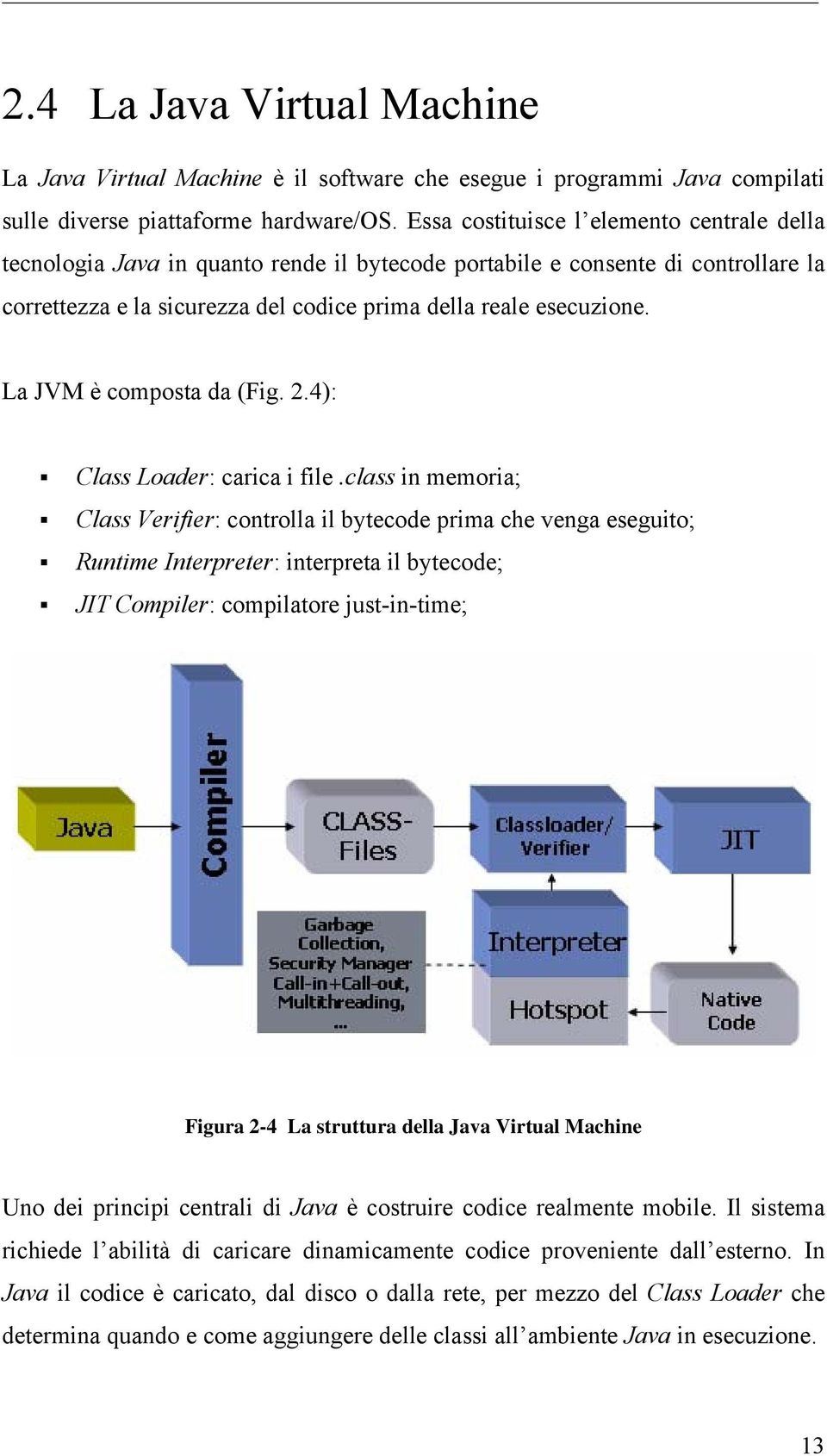 La JVM è composta da (Fig. 2.4): Class Loader: carica i file.