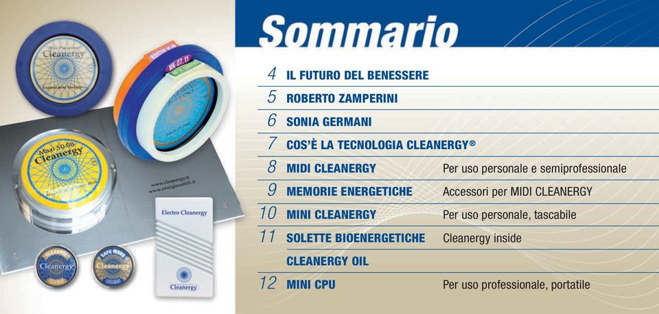 Accessori per MIDI CLEANERGY 10 MINI CLEANERGY Per uso personale, tascabile 11 SOLETTE