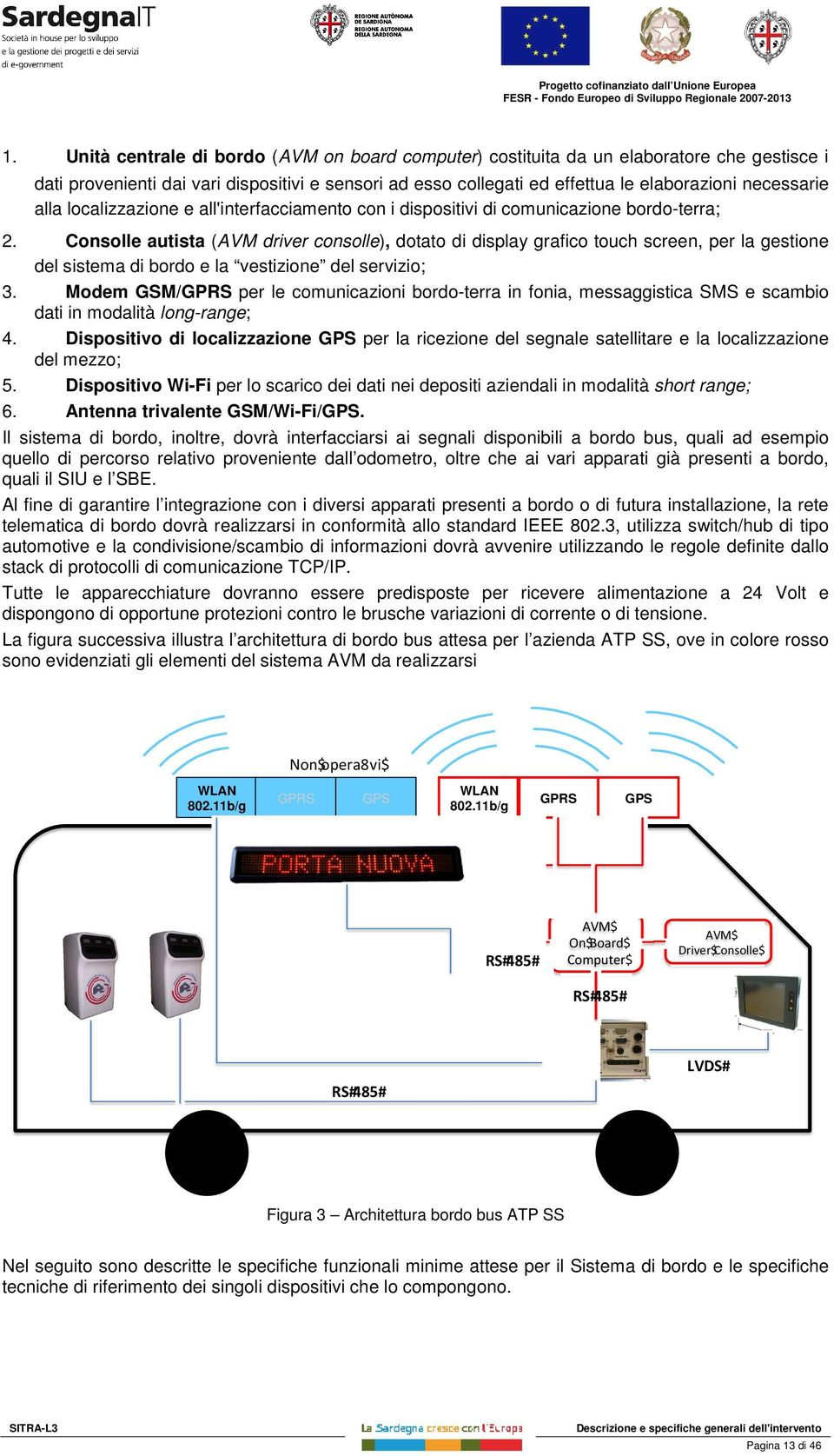 e all'interfacciament cn i dispsitivi di cmunicazine brd-terra; 2.
