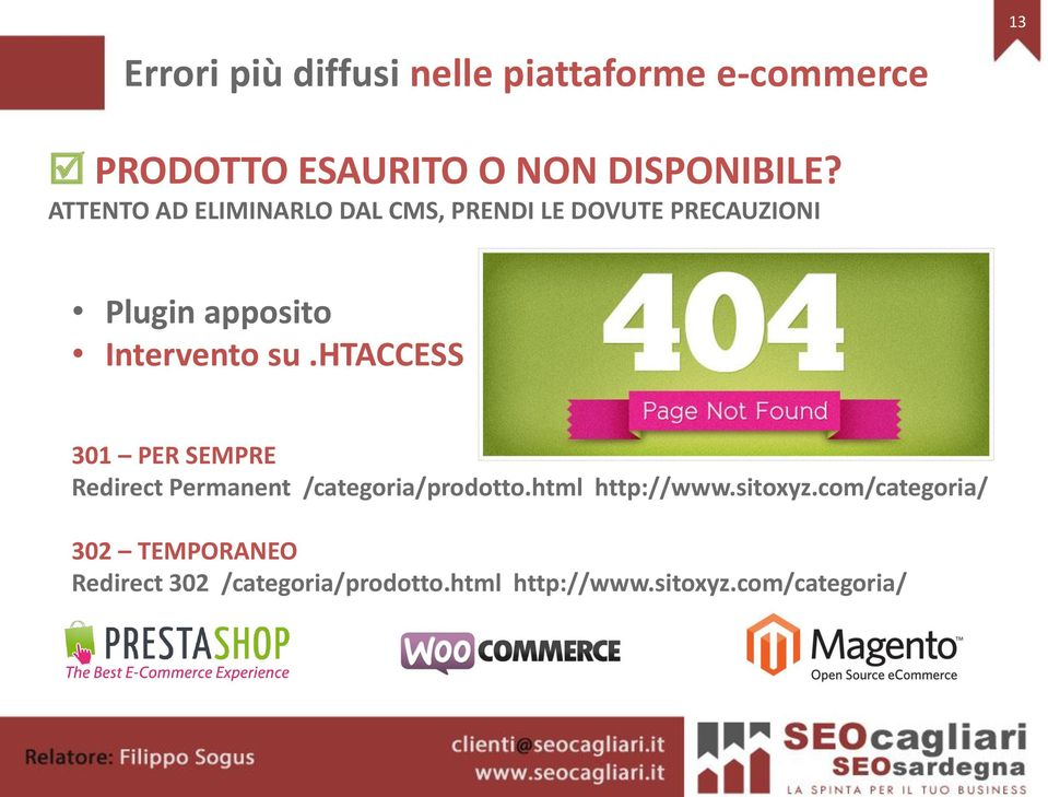 htaccess 301 PER SEMPRE Redirect Permanent /categoria/prodotto.html http://www.sitoxyz.