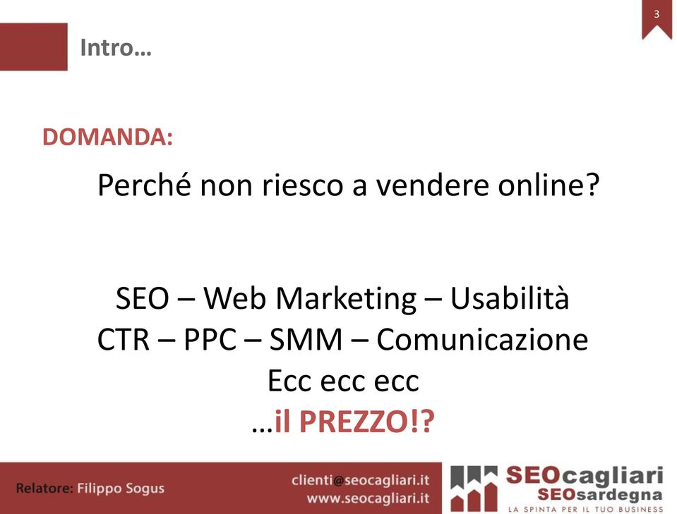 SEO Web Marketing Usabilità CTR