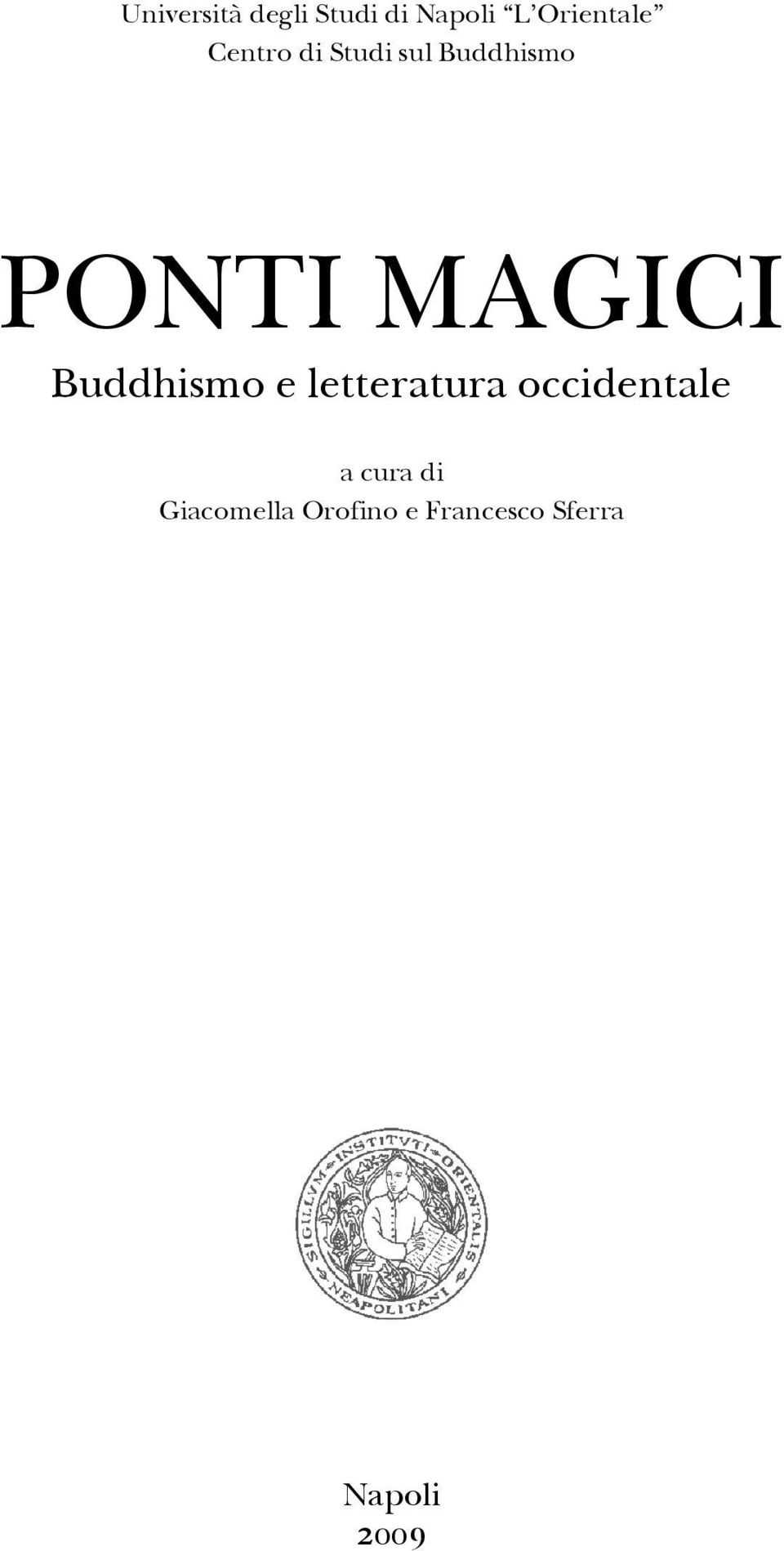 Buddhismo e letteratura occidentale a cura di