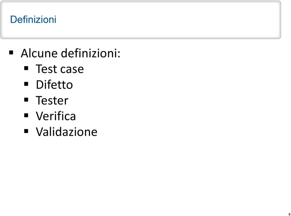 Test case Difetto