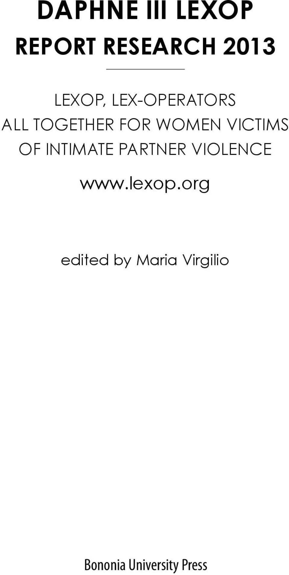 of intimate partner violence www.lexop.