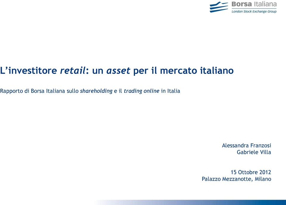 shareholding e il trading online in Italia
