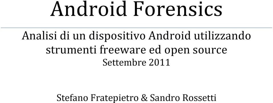 strumenti freeware ed open source
