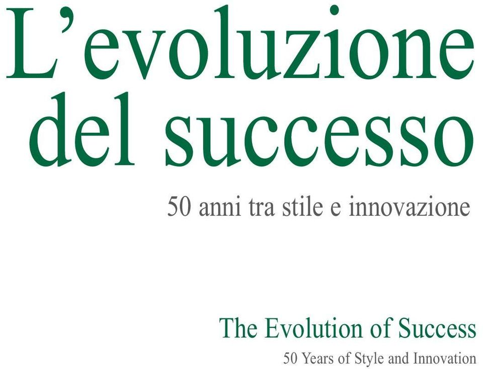 The Evolution of Success 50