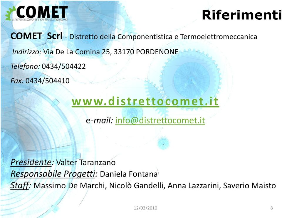 it e-mail: info@distrettocomet.