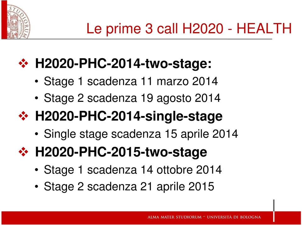 H2020-PHC-2014-single-stage Single stage scadenza 15 aprile 2014