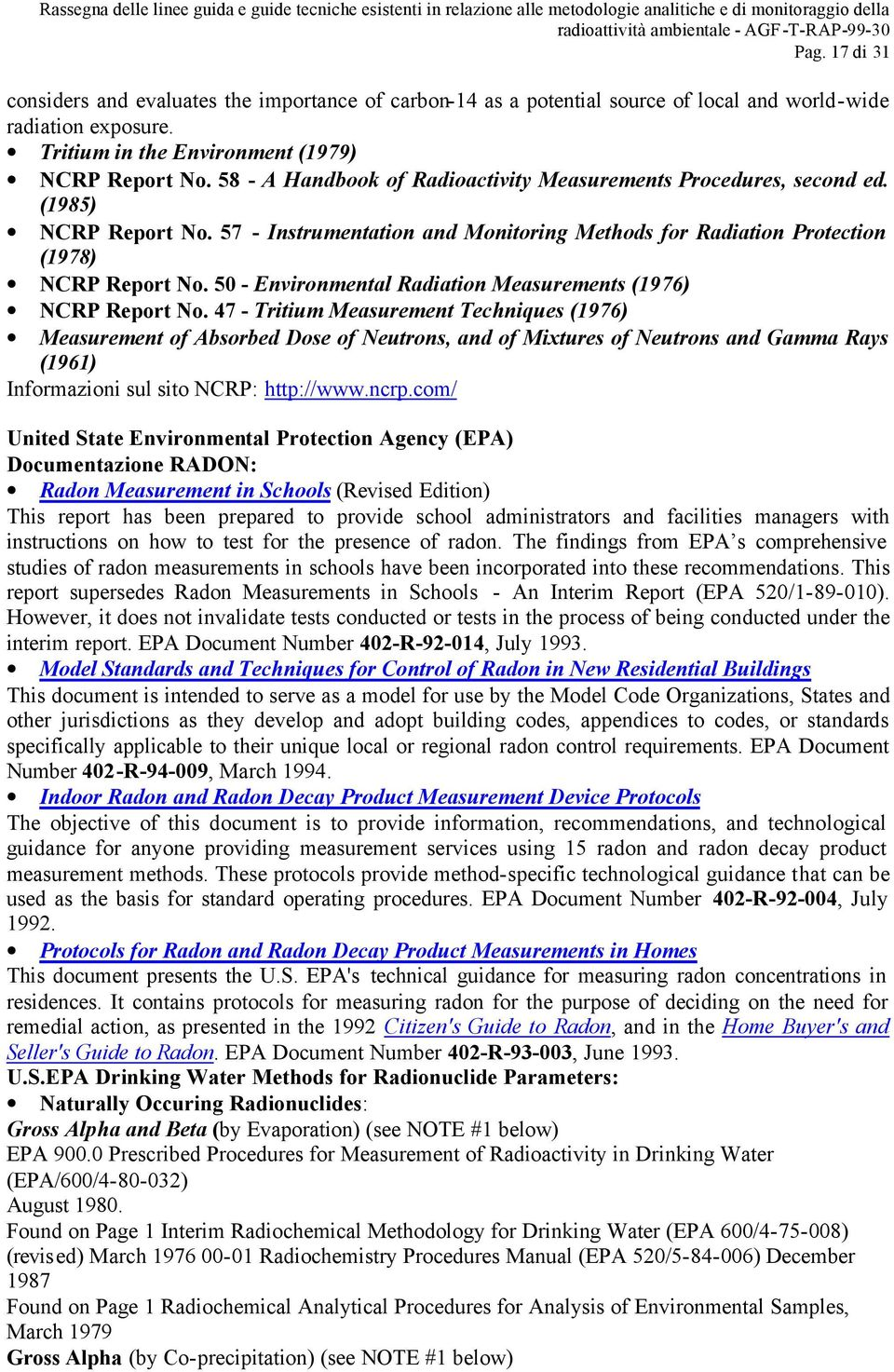 50 - Environmental Radiation Measurements (1976) NCRP Report No.