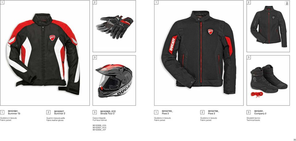 tessuto-pelle Fabric-leather gloves Casco integrale Full-face helmet Giubbino in tessuto Fabric