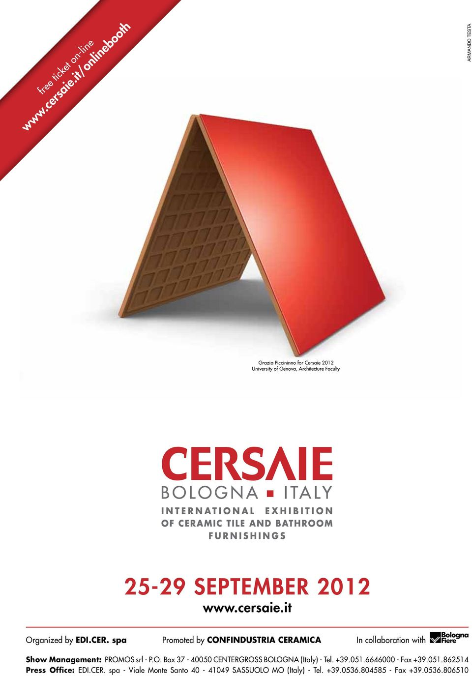 2012 www.cersaie.it Organized by EDI.CER.