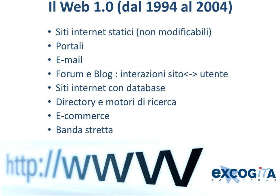 modificabili) Portali E-mail Forum e Blog :