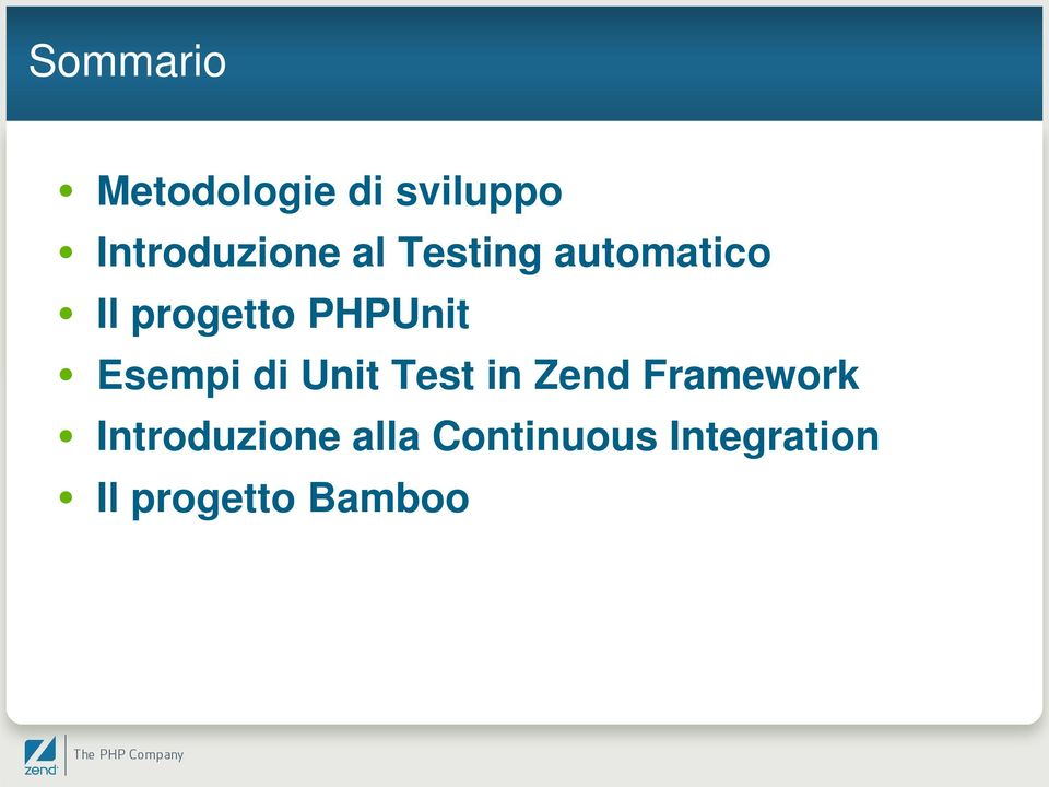 Esempi di Unit Test in Zend Framework