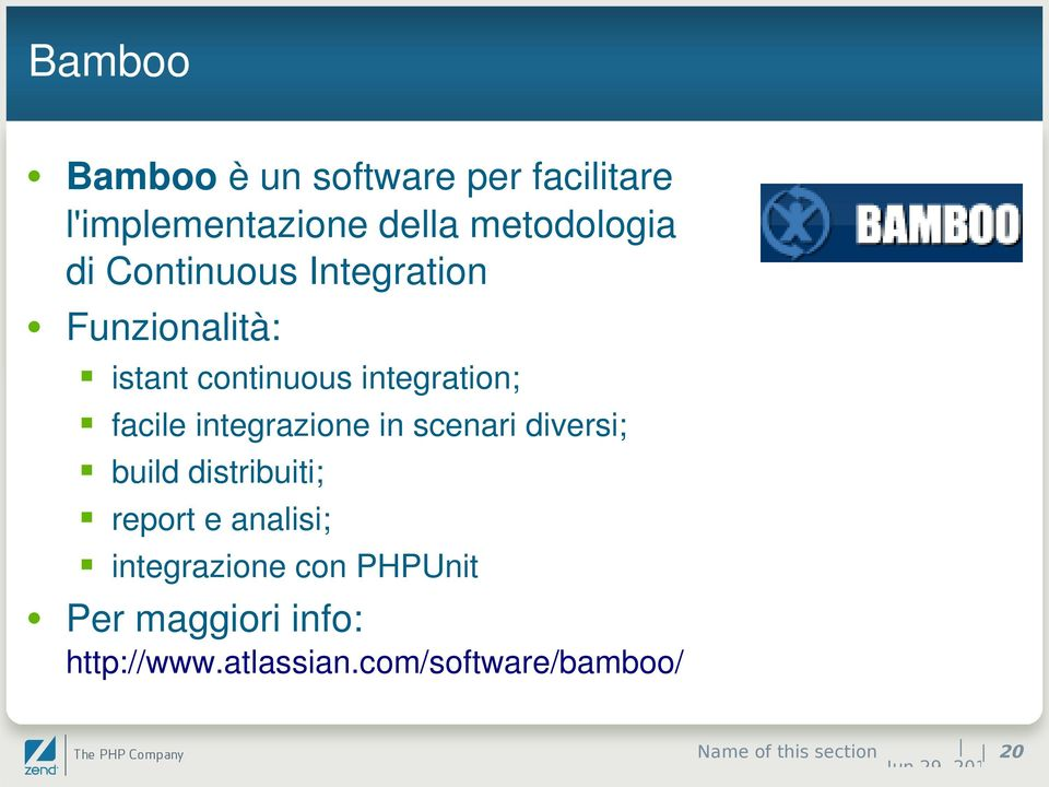 integrazione in scenari diversi; build distribuiti; report e analisi; integrazione