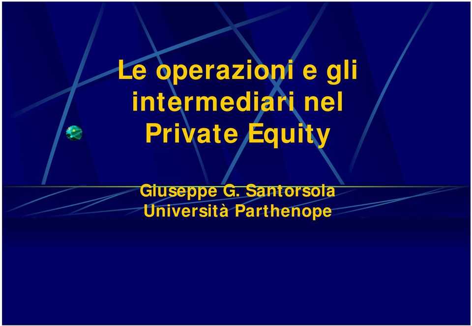 Private Equity Giuseppe