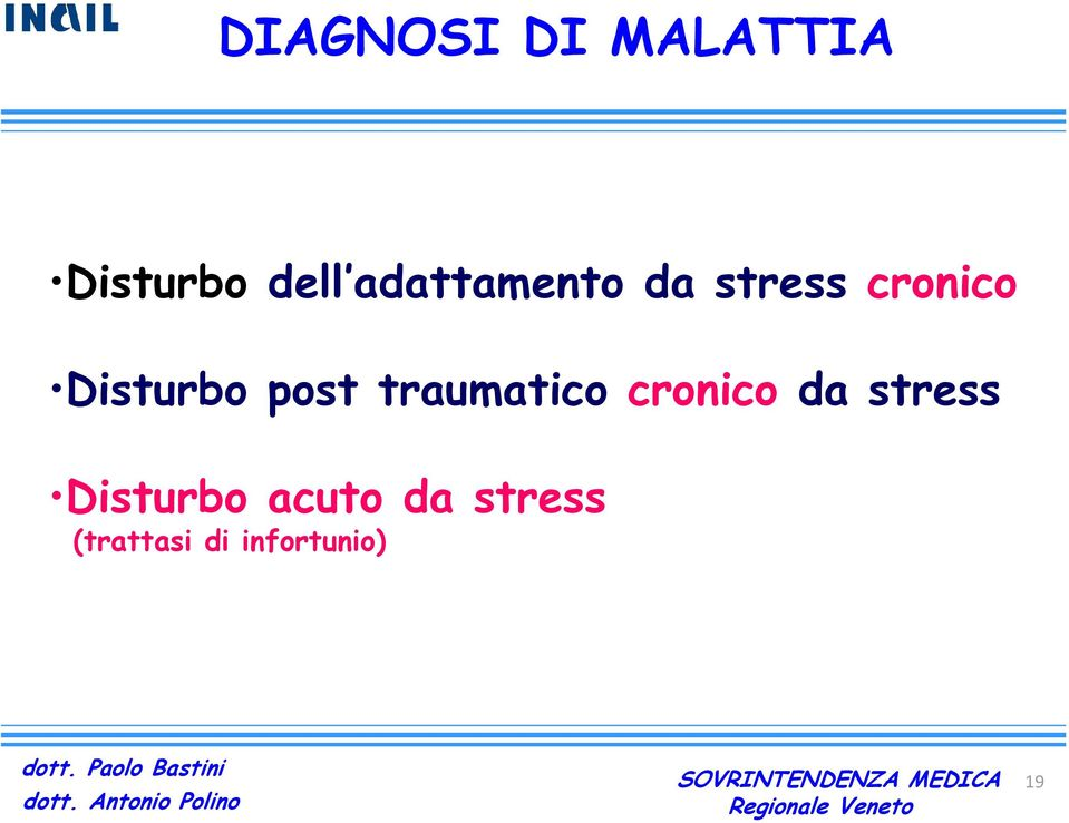 post traumatico cronico da stress