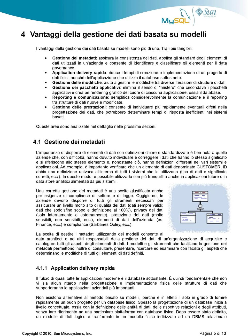 elementi per il data governance.