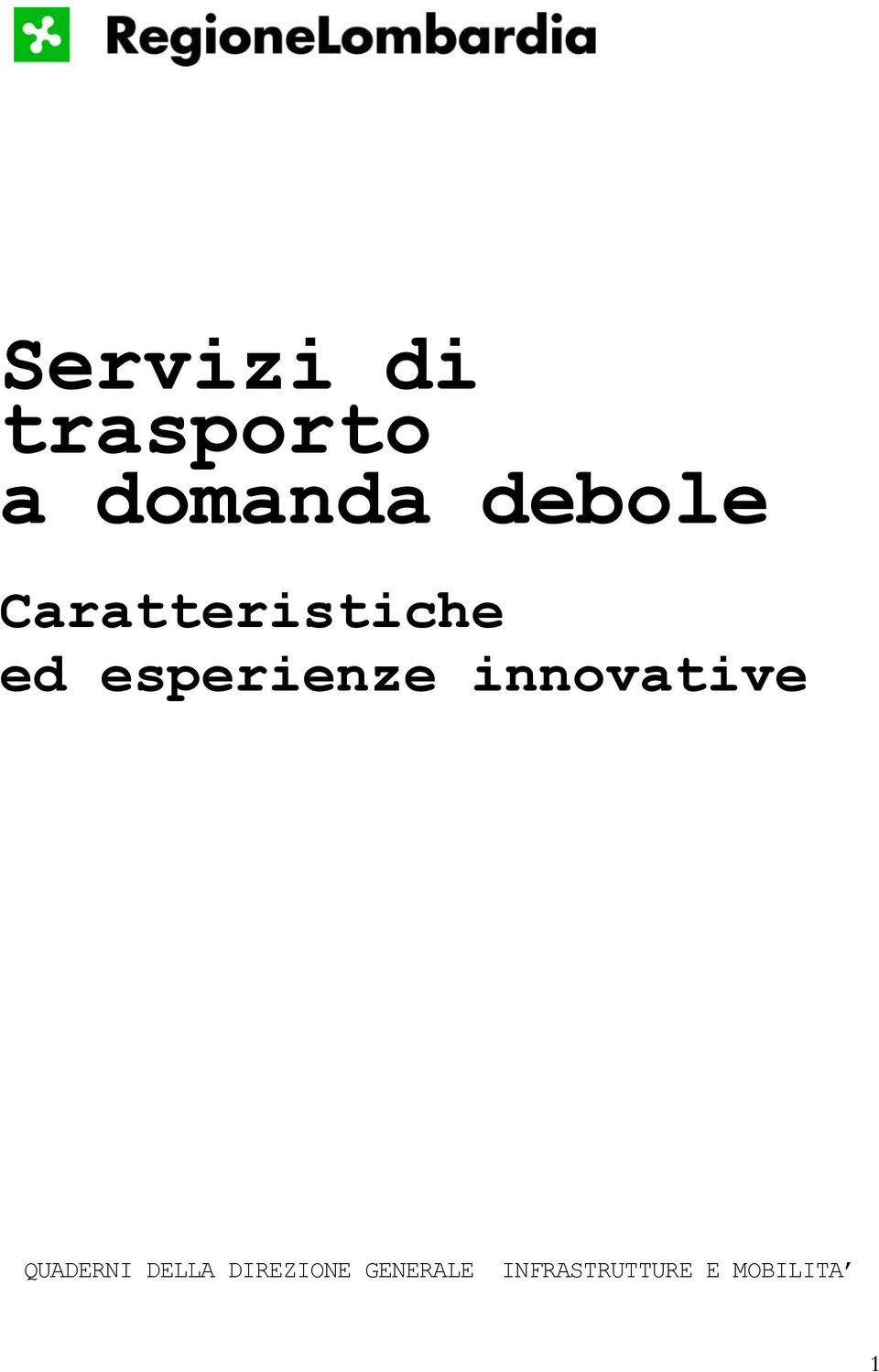 esperienze innovative QUADERNI
