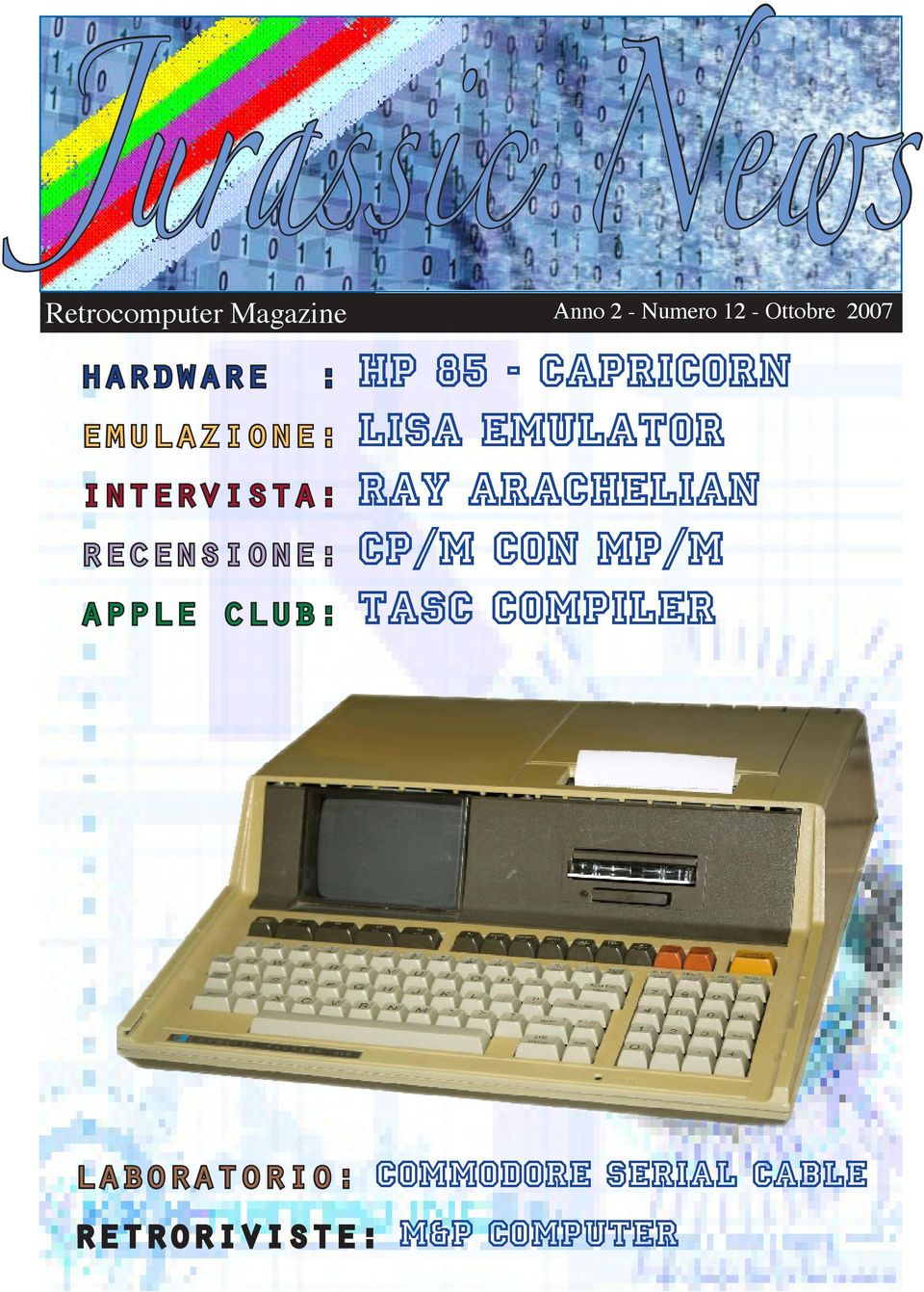 intervista: RAY ARACHELIAN recensione: CP/M con mp/m apple club: