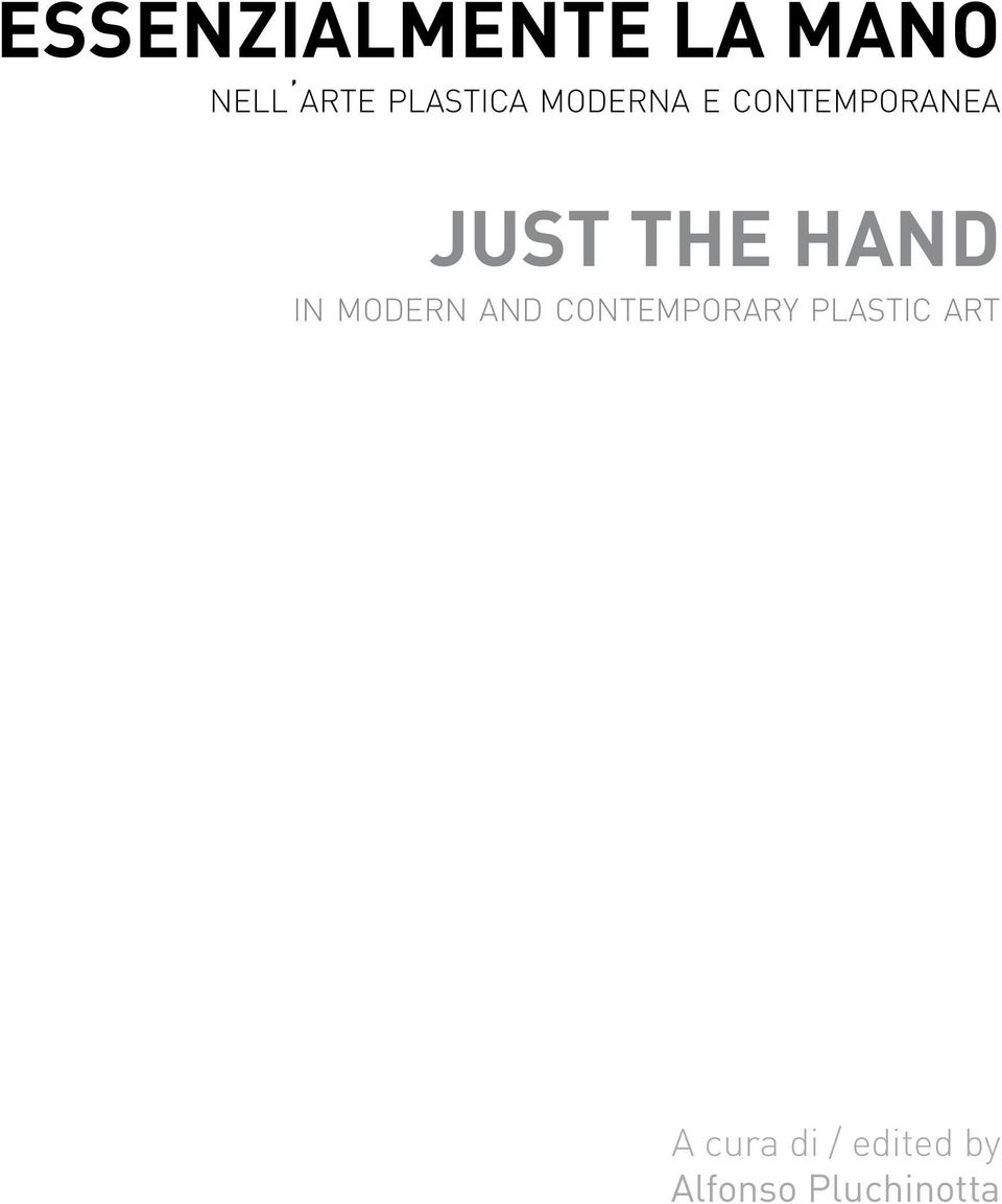 THE HAND in modern and contemporary