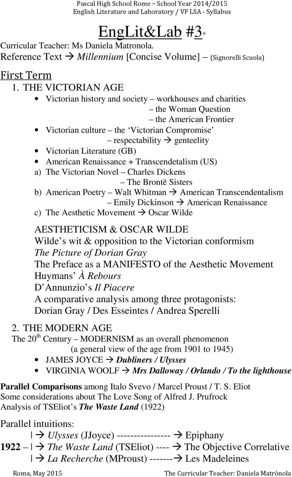 Literature (GB) American Renaissance + Transcendetalism (US) a) The Victorian Novel Charles Dickens The Brontë Sisters b) American Poetry Walt Whitman American Transcendentalism Emily Dickinson