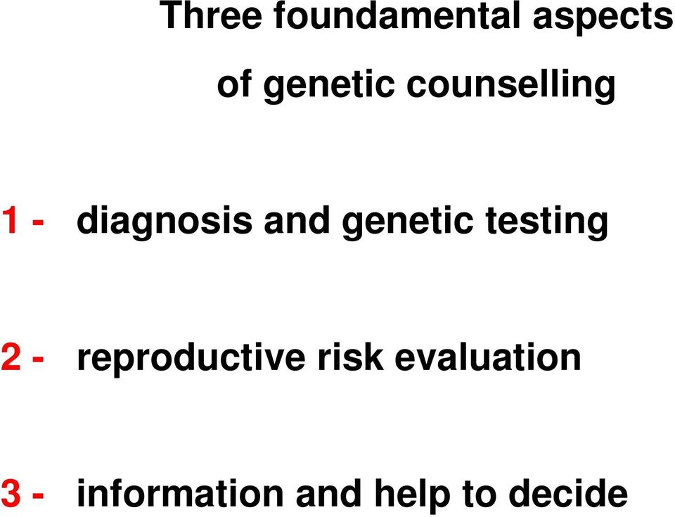 testing 2 - reproductive risk