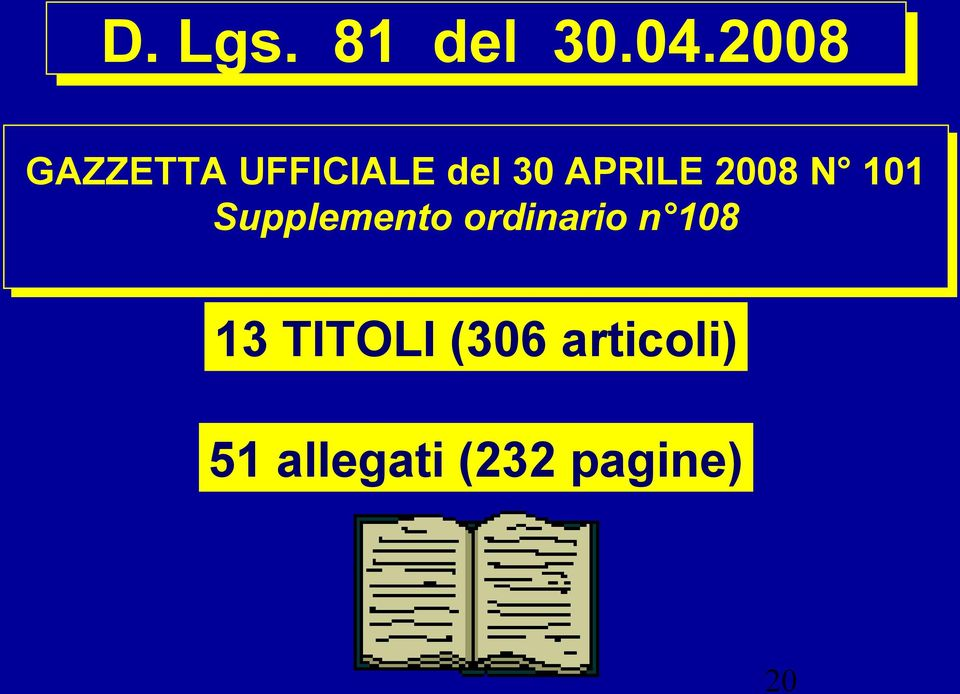 2008 N 101 Supplemento ordinario n
