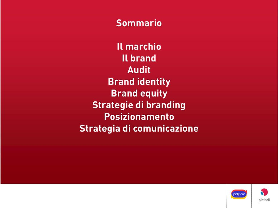 equity Strategie di branding