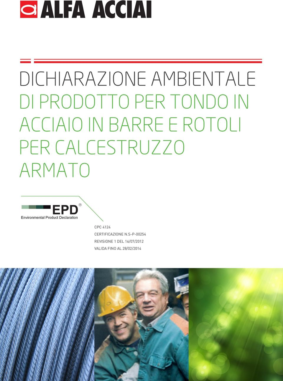 Environmental Product Declaration CPC 4124