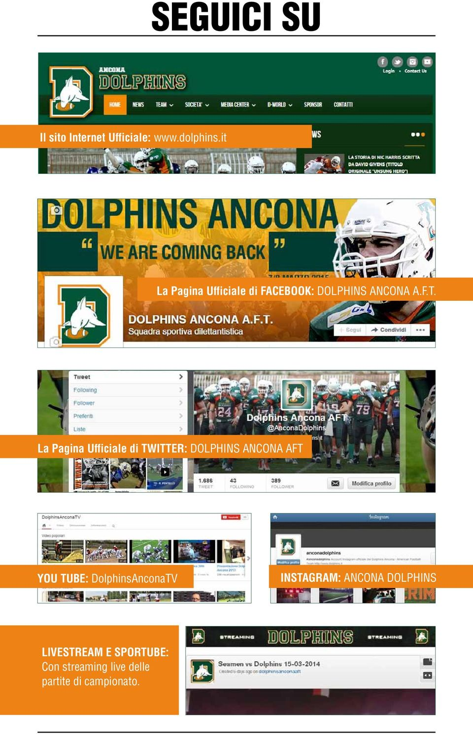 La Pagina Ufficiale di TWITTER: DOLPHINS ANCONA AFT YOU TUBE:
