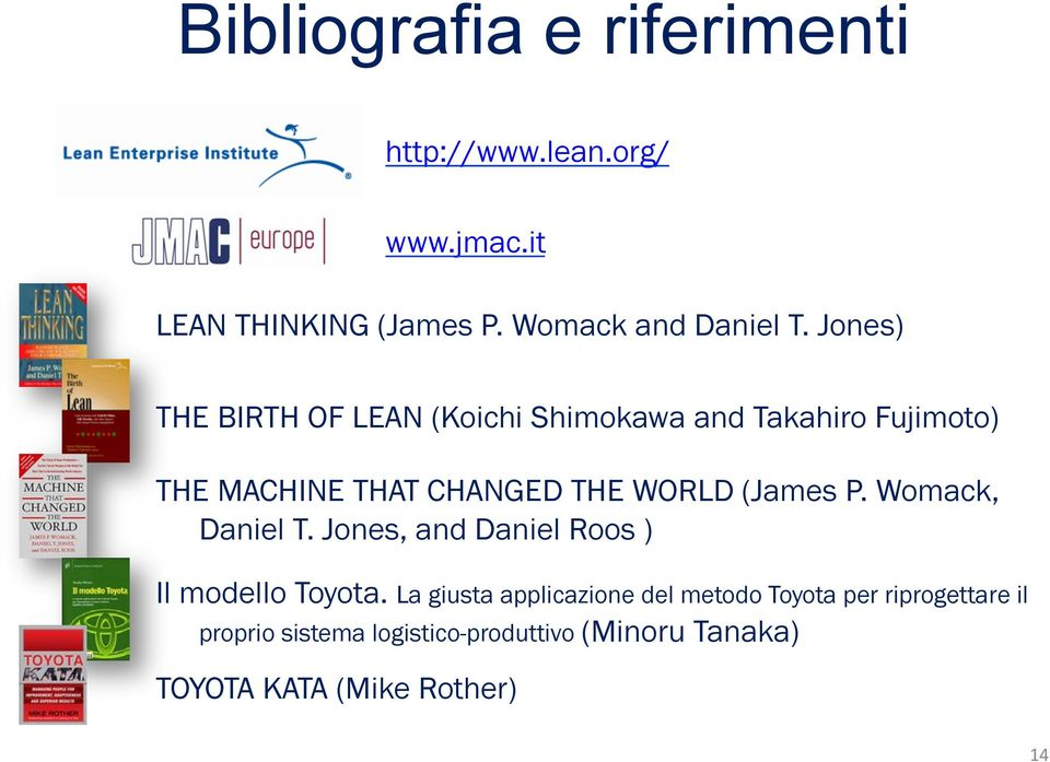 (James P. Womack, Daniel T. Jones, and Daniel Roos ) Il modello Toyota.