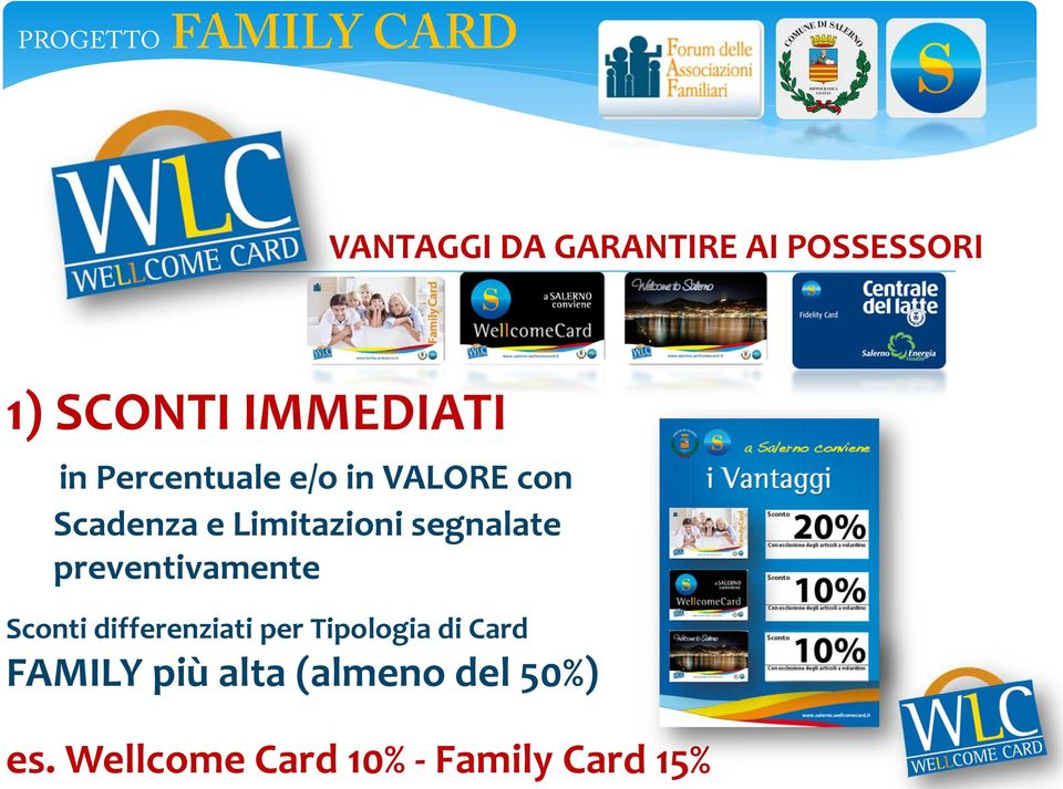 preventivamente Sconti differenziati per Tipologia di Card