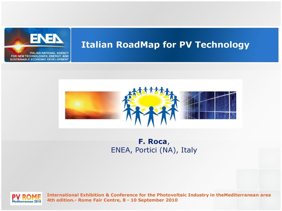 Exhibition & Conference for the Photovoltaic Industry