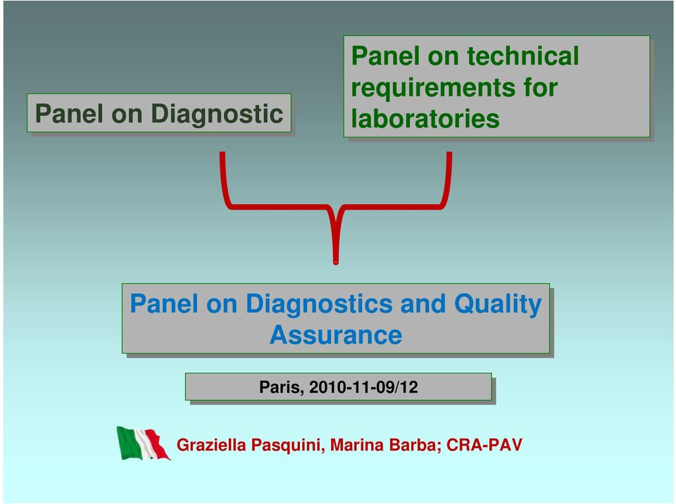 Diagnostics and Quality Assurance Paris,