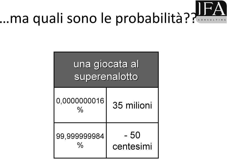 superenalotto 0,0000000016 %
