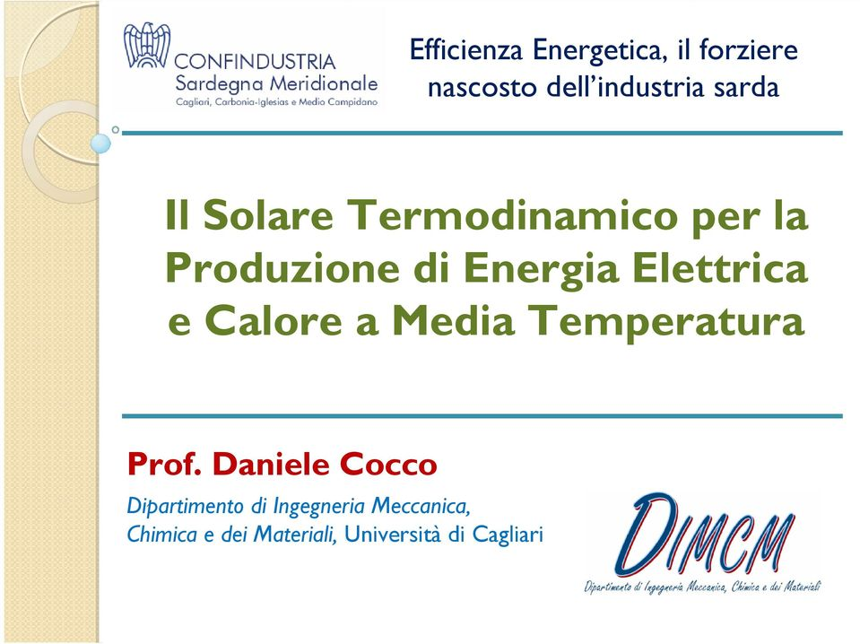 Calore a Media Temperatura Prof.