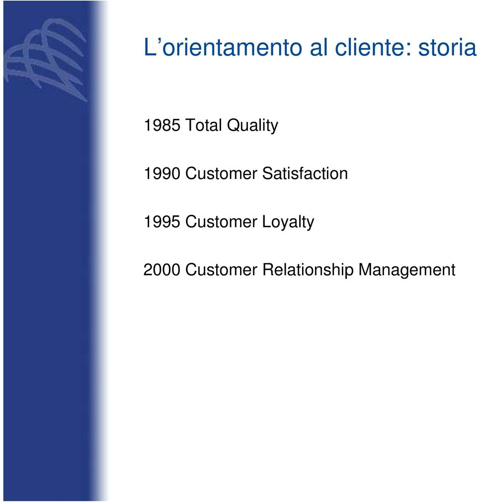 Satisfaction 1995 Customer Loyalty