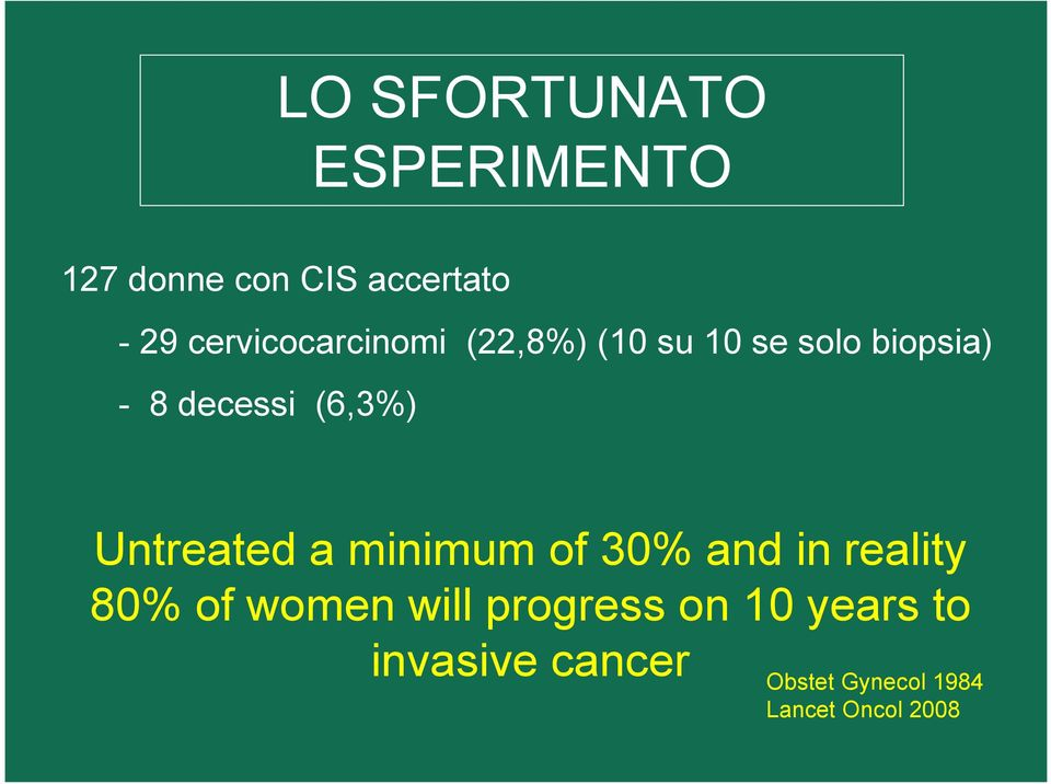(6,3%) Untreated a minimum of 30% and in reality 80% of women will