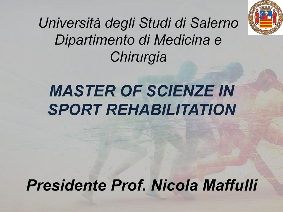 MASTER OF SCIENZE IN SPORT