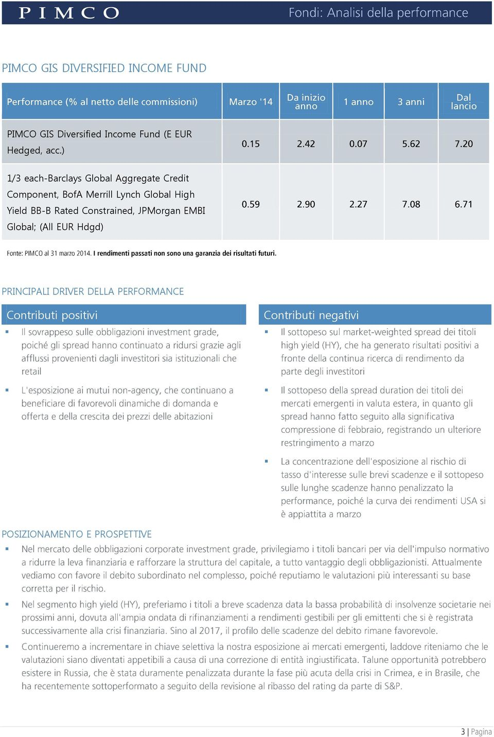 ) 1/3 each-barclays Global Aggregate Credit Component, BofA