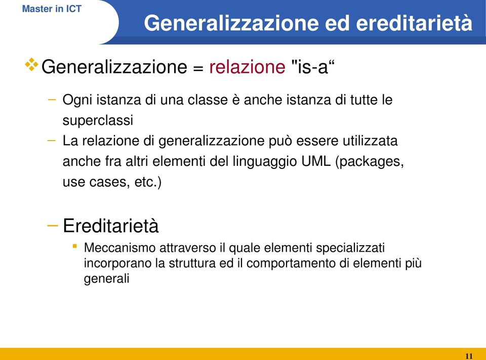 fra altri elementi del linguaggio UML (packages, use cases, etc.
