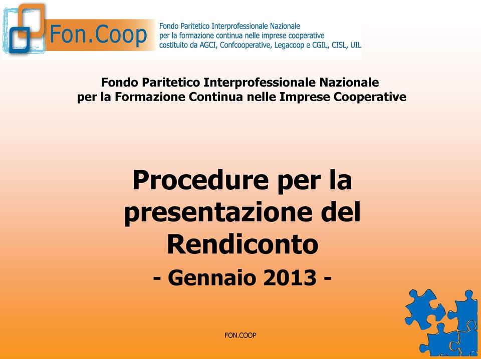 Imprese Cooperative Procedure per la