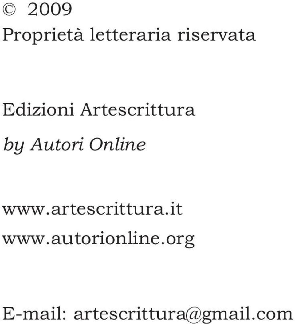 Online www.artescrittura.it www.