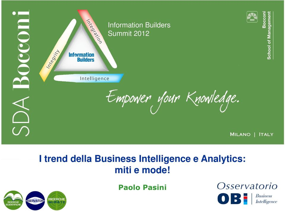 Business Intelligence e
