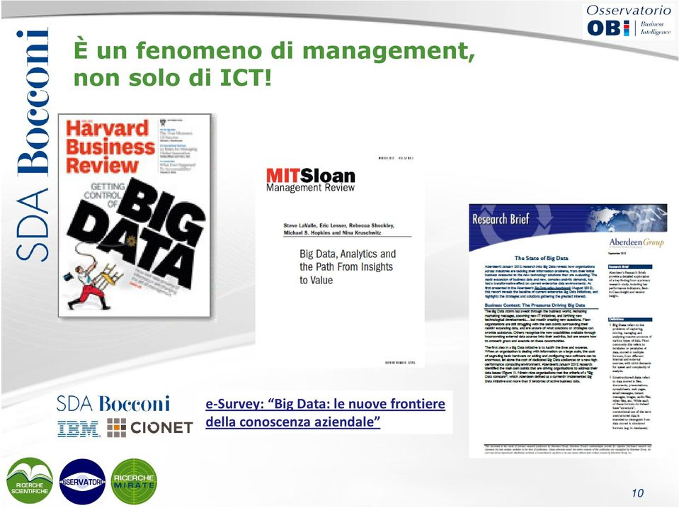 e-survey: Big Data: le nuove