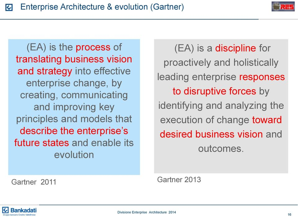 states and enable its evolution (EA) is a discipline for proactively and holistically leading enterprise responses to