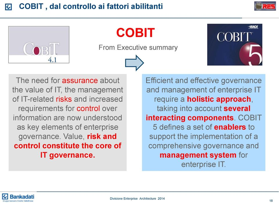 Value, risk and control constitute the core of IT governance.