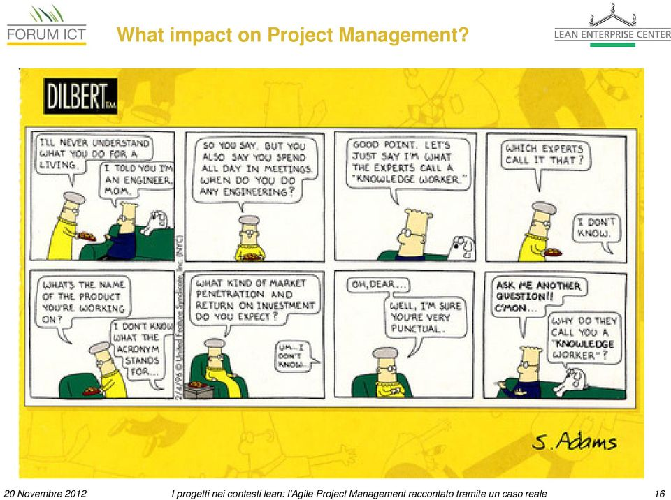 contesti lean: l Agile Project